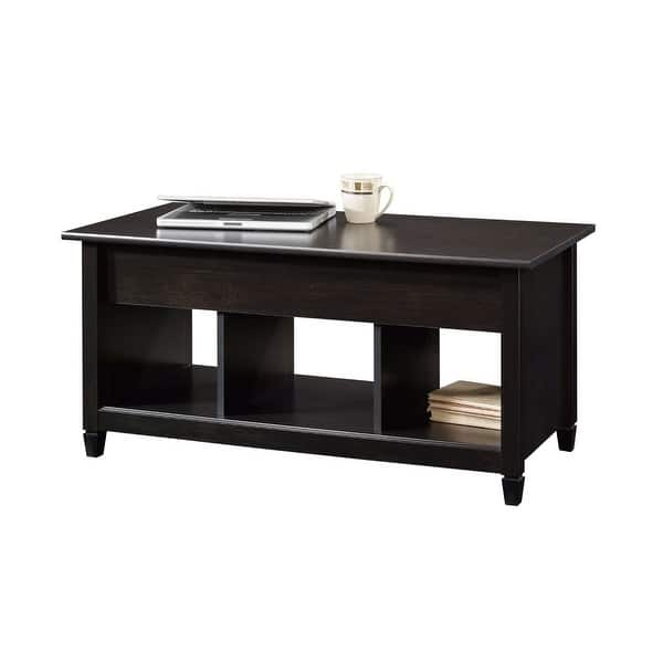 Shop Black Wood Finish Lift Top Coffee Table With Bottom Storage