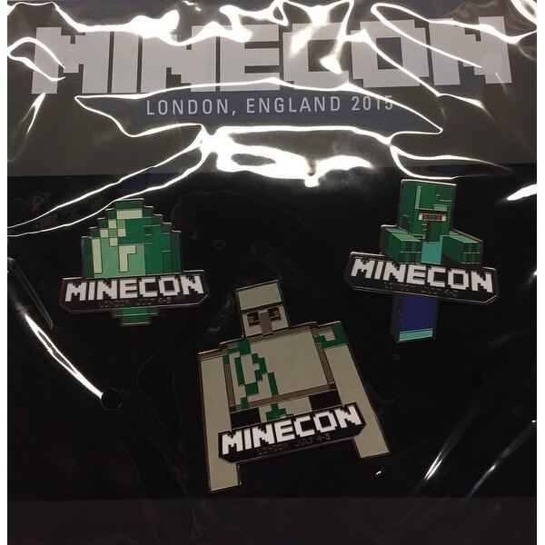 Minecraft Minecon 2015 Exclusive Pin Set of 3 - multi