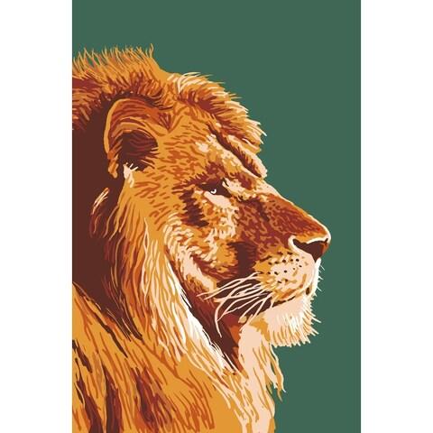 Lion Up Close - LP Artwork (100% Cotton Towel Absorbent)