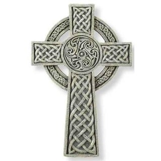 "9.5"" Joseph's Studio Irish Detailed Celtic Wall Cross Decoration"