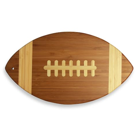 """Totally Bamboo 20-7670 Football Shaped Bamboo Cutting & Serving Board, 15"""""""