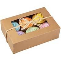 6 Cavity Kraft 2/Pkg - Cupcake Boxes