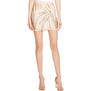 Endless Rose Womens Mini Skirt Sequined Contrast Trim