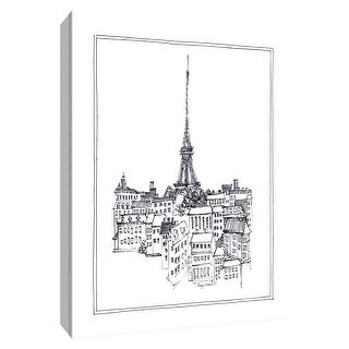 """PTM Images 9-154770  PTM Canvas Collection 10"""" x 8"""" - """"Eiffel Tower"""" Giclee Eiffel Tower Art Print on Canvas"""