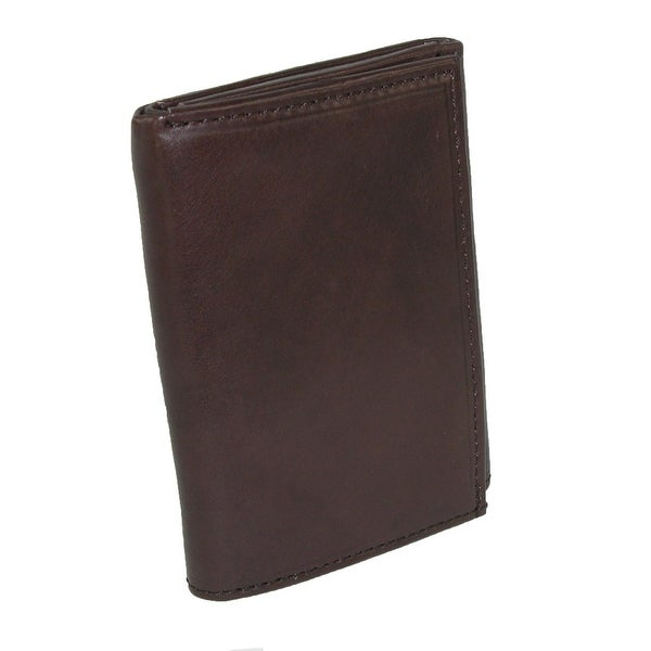 Paul & Taylor Men's Leather Badge Holder Trifold Wallet - One size