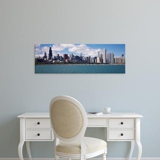 Easy Art Prints Panoramic Image 'Skyscrapers, Hancock Building, Lake Michigan, Chicago, Cook, Illinois' Canvas Art