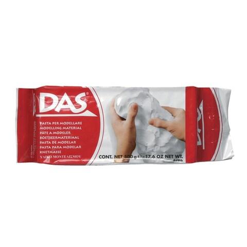 Prang DAS Air-Hardening Acid-Free Non-Toxic Modeling Clay, 1 lb, White