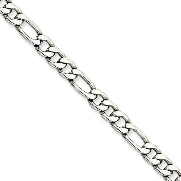 Chisel Stainless Steel 5.30mm 20 Inch Figaro Chain (5.3 mm) - 20 in