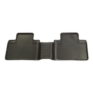 Husky Classic 2000-2004 Nissan Frontier CrewCab 2nd Row Black Rear Floor Mats/Liners