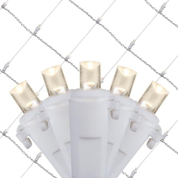 Wintergreen Lighting 21947 4' x 6' Warm White LED Net - 100 Lights