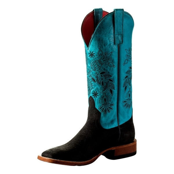Macie Bean Western Boots Womens Hyp-po Square Midnight Hippo