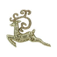 Seasons of Elegance Gold Leaping Reindeer Christmas Ornament - multi