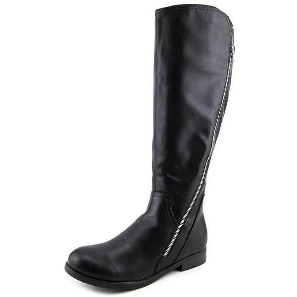 Report Jadah Women Round Toe Synthetic Black Knee High Boot