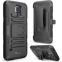 i-Blason Samsung Galaxy S5 Case - Prime Series Dual Layer Holster Case - Black