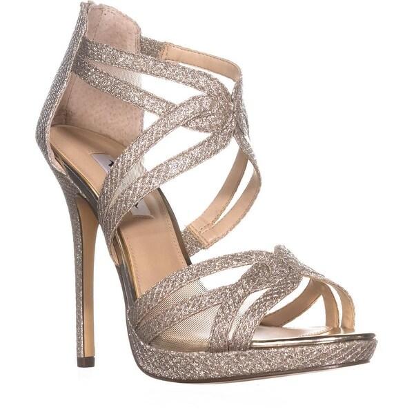 Nina Fayette Platform Dress Sandals, Soft Platino Diamond - 9 us / 39 eu