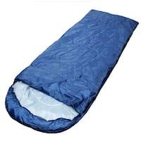 Adult Outdoor Hiking Camping Foldable Zipper Closure Sleeping Bag Navy Blue