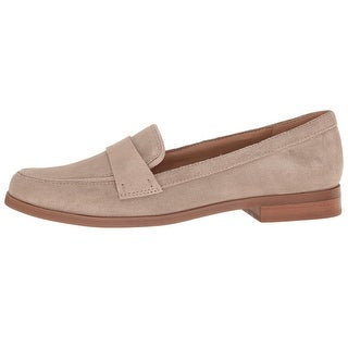 Franco Sarto Womens Valera Leather Closed Toe Loafers