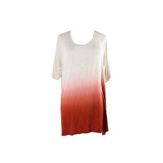 Style Co. Plus Size Sienna Orange Ombre Tunic 2X