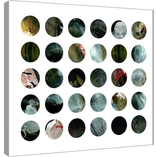 "PTM Images 9-101125  PTM Canvas Collection 12"" x 12"" - ""Circle Grid M"" Giclee Abstract Art Print on Canvas"