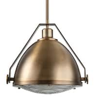 """Park Harbor PHPL5571 15"""" Wide Single Light Single Pendant with Industrial Style Shade"""