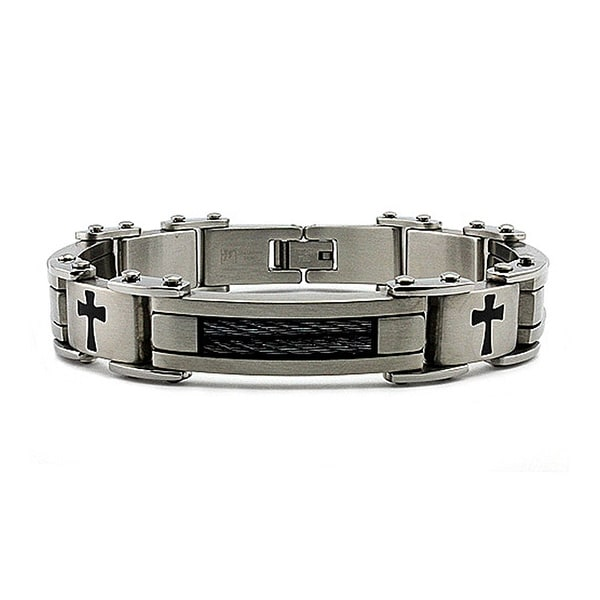 Stainless Steel Men's Link Bracelet 8.75 Inches
