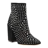 Vince Camuto Women's Drista Studded Bootie Black True Suede