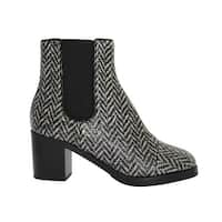 Dolce & Gabbana Black White Leather Boots