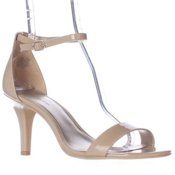 Bandolino Madia Ankle Strap Peep Toe Sandals, Natural