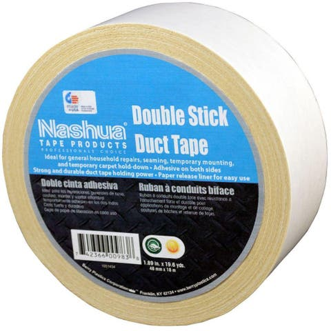 "Nashua 1087287 Multi-Purpose Double-Stick Duct Tape, 11 Mil, 1.89"" x 19.6 Yd"