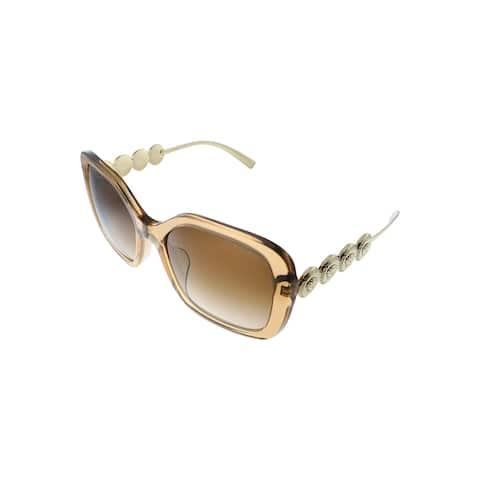 Versace VE 4375F 767/13 53mm Womens Transparent Brown Frame Brown Gradient Lens Sunglasses
