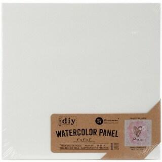 """Prima Marketing DIY Watercolor Canvas Panel-8""""X8"""""""
