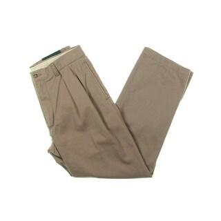 Polo Ralph Lauren Mens Khaki Pants Classic Fit Pleated