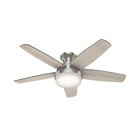 "Hunter 48"" Avia Low Profile Ceiling Fan with LED Light and Handheld Remote"