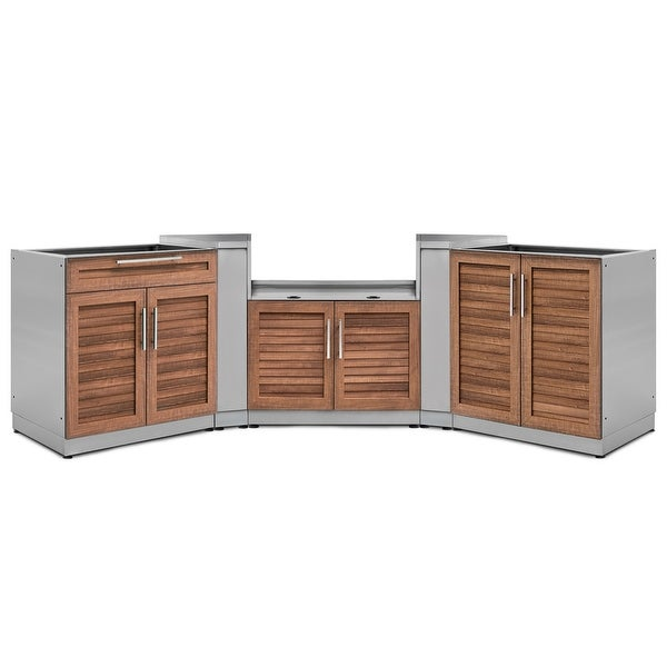Shop NewAge Products Outdoor Kitchen 147 Inch W x 24 Inch ... on Patio Kitchen Set id=37933