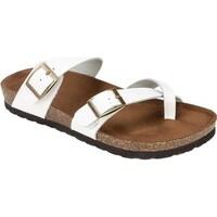 65eb3e86e668 Shop White Mountain Women s Gracie Toe Loop Sandal Brown Leather ...