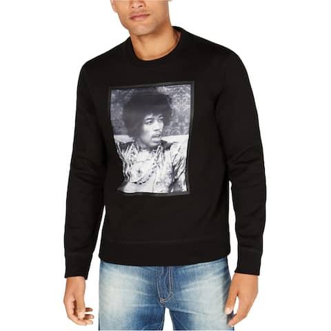 Sean John Mens Jimi Hendrix Sweatshirt, Black, XX-Large