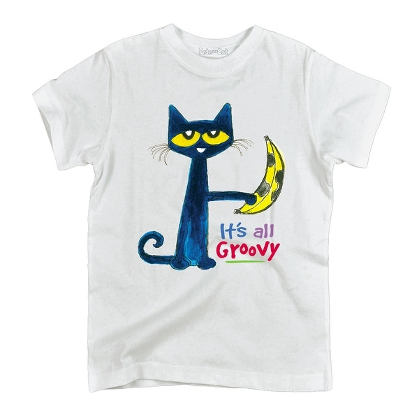 Pete The Cat It/'s All Groovy Youth Short Sleeve Graphic T-Shirt