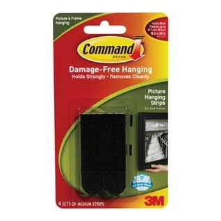 3M 17201BLK Picture Hanging Strips, Black