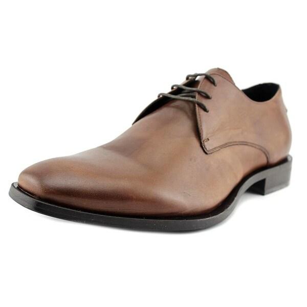Kenneth Cole NY Gen-Eration Men Plain Toe Leather Tan Oxford