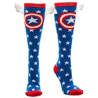 Marvel Captain America Knee High Socks with Wings