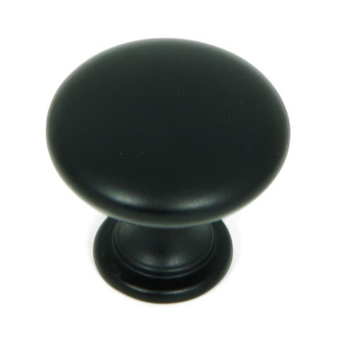 Stone Mill Hardware - Matte Black Round Cabinet Knobs (Pack of 25)