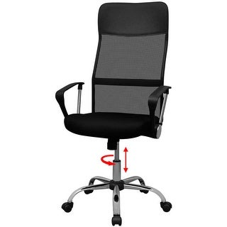 "vidaXL Office Chair Half PU 24.2""x23.6"" Black"