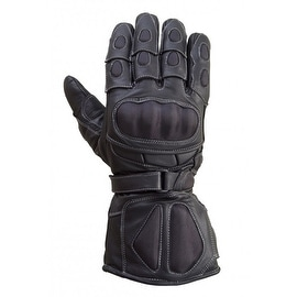 Motorcycle Carbon Fiber Knuckle 100% Drum Dyed Cowhide Race Gloves Black MG6