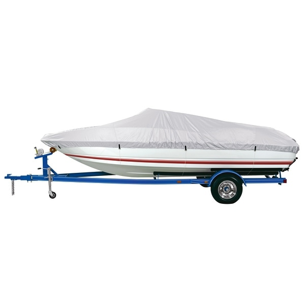 Dallas Manufacturing Co. Reflective Polyester Boat Cover D- 17'-19' V-Hull & Runabouts - Beam Width to 96""