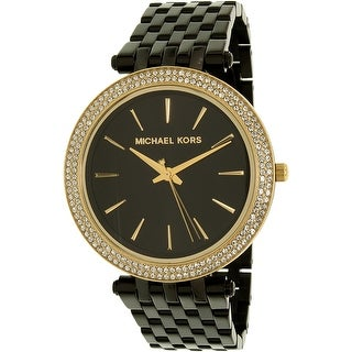 Michael Kors Women's Darci MK3322 Black Stainless-Steel Quartz Fashion Watch