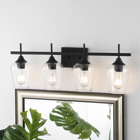 GetLedel 4-light Vanity Light Sconce With Clear Glass Shade