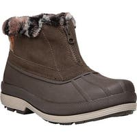 Propet Women's Lumi Ankle Zip Duck Boot Brown Suede