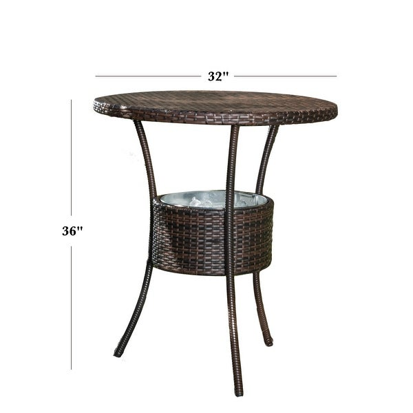 Oyster Bay Outdoor Wicker Bar Table by Christopher Knight Home