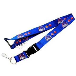 Boise State Broncos Clip Lanyard Keychain Id Ticket Blue
