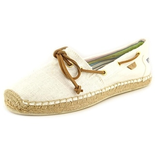 Sperry Top Sider Katama Women Square Toe Canvas White Espadrille